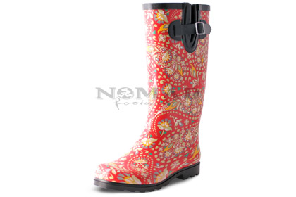 Puddles - Red/Yellow Paisley