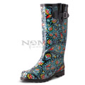 View detail information about 'Puddles - Black/Green Paisley' - Boots