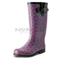 View detail information about 'Puddles - Black/Plum Tile' - Boots