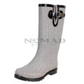 View detail information about 'Puddles - Grey/White Herringbone (SPECIAL PAIR)' - Boots
