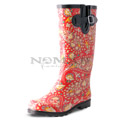 View detail information about 'Puddles - Red/Yellow Paisley' - Boots