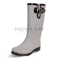 View detail information about 'Puddles - Grey/White Herringbone' - Boots