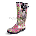 View detail information about 'Puddles - Pink/Lime Paisley' - Boots
