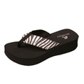 View detail information about 'Cheebo - Black Zebra' - Sandals