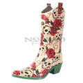 View detail information about 'Yippy - Natural Skull Rose' - Boots
