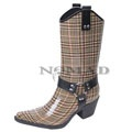 View detail information about 'Harness - Brown/Plaid' - Boots