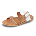 View detail information about 'Capri - Brown/White' - Sandals