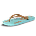 View detail information about 'Sea Life - Teal/Gold Seahorse' - Sandals