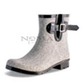 View detail information about 'Droplet - Grey/White Herringbone' - Boots