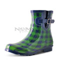 View detail information about 'Droplet - Navy/Green Gingham' - Boots