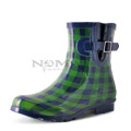 View detail information about 'Droplet - Navy/Green Gingham (Special Pair)' - Boots