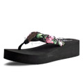 View detail information about 'Luau - Black-Pink Floral' - Heels & Wedges